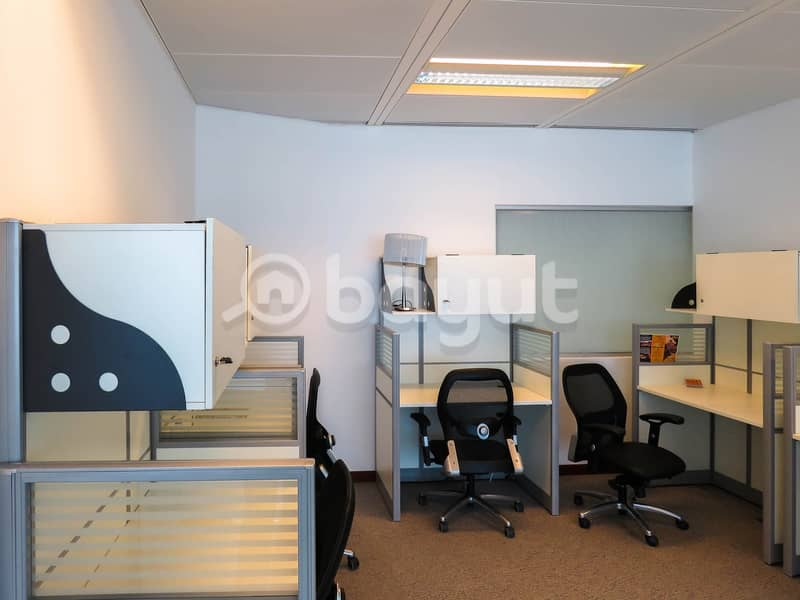 1 Stunning Flexi Desk Office with Fantastic Location | Fully Furnished| Fully Serviced|Near to Metro|with Tenancy Contract