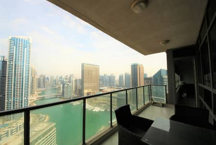 2 Bedroom Apartment for Rent in Dubai Marina, Dubai - Full Marina View Large Two Bedroom with furnished