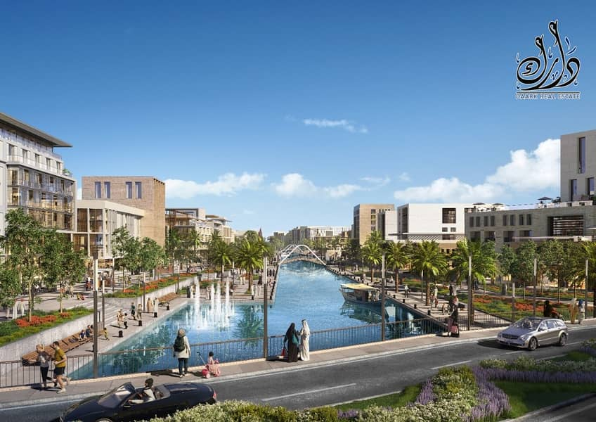 Own your apartment with the only waterfront in the middle of Sharjah