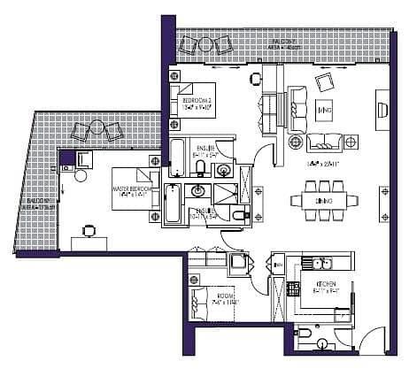 10 Two Bedroom Plus Study | 8 Boulevard Walk