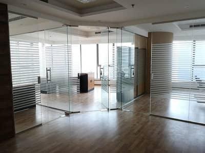 مکتب  للايجار في أبراج بحيرات الجميرا، دبي - Furnished Office with Glass Partitions | Platinum Tower | JLT
