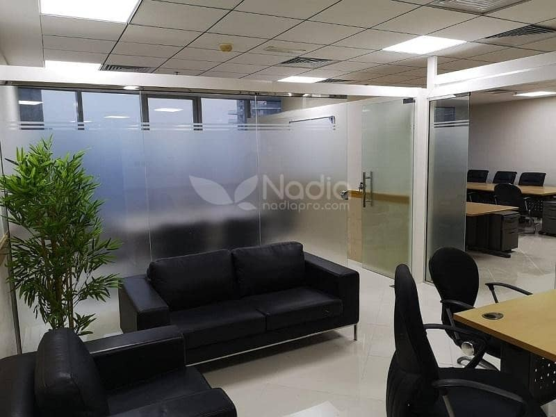 Furnished Office with Glass Partitions | Platinum Tower | JLT