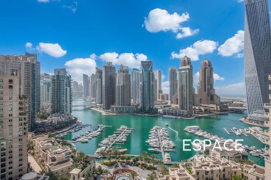 Full Marina View | 2 Beds | Study | Emaar 6