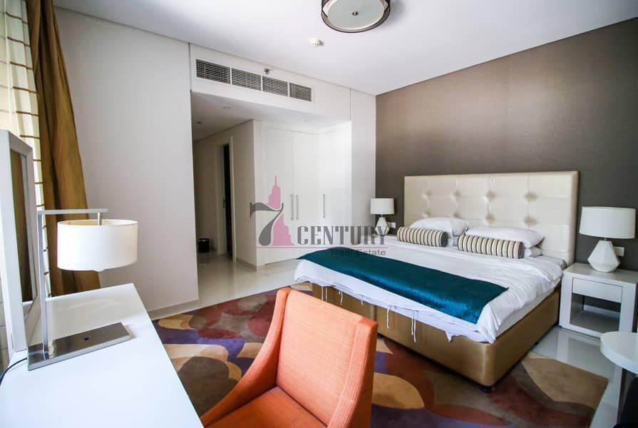 Big layout / Furnished 3 BR + maid room apt