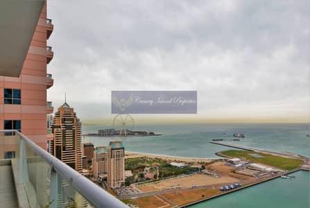 شقة 3 غرف نوم للبيع في دبي مارينا، دبي - Type 01 Unit | Full  Sea View | High floor