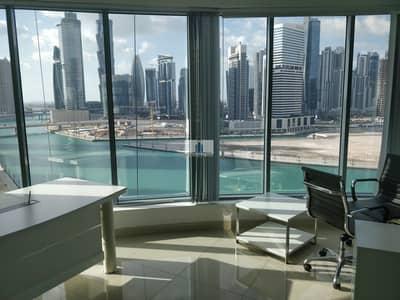مکتب  للايجار في الخليج التجاري، دبي - Full Lake View | Plug n Play | Furnished