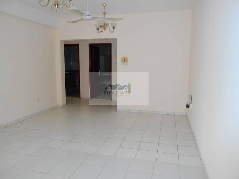 EXCELLENT 2BHK IN FRONT OF AL NAHDA METRO LAST APARTMENT ONLY FOR FAMILIES WITH 2 BATHROOMS BALCONY PARKING AVAIL 46K