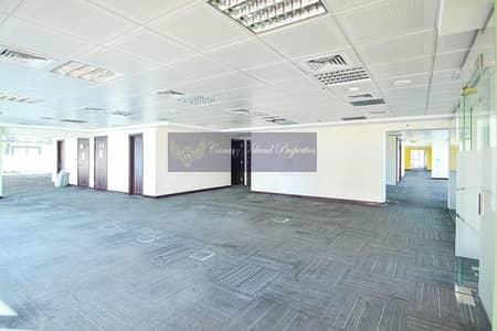 مکتب  للايجار في أبراج بحيرات الجميرا، دبي - Partitioned Office | Full Floor | Cluster F | Rent - JLT