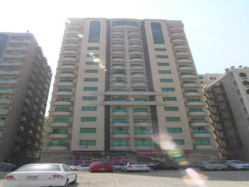 SPACIOUS 1 B/R HALL FLAT WITH BALCONY IN ABU SHAGARA AREA