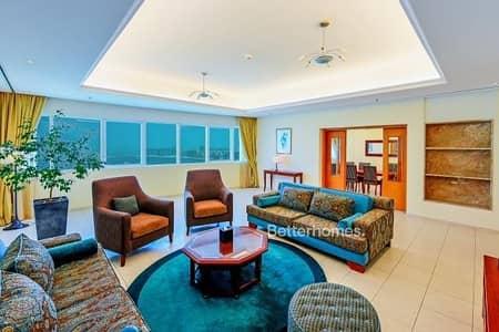 شقة فندقية 3 غرف نوم للايجار في دبي مارينا، دبي - Sea View Furnished 3 Bed in Tamani Hotel Apartment