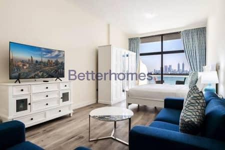 استوديو  للبيع في نخلة جميرا، دبي - Sea View I Furnished I Big Size Studio