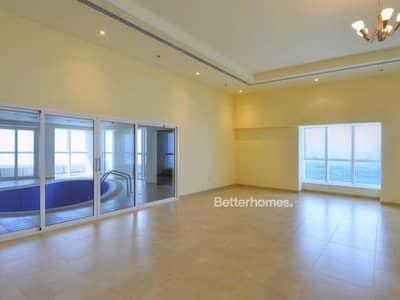 فلیٹ 4 غرف نوم للايجار في دبي مارينا، دبي - Vacant | Sea View | Maid's Room | Storage