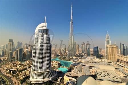 فلیٹ 2 غرفة نوم للايجار في وسط مدينة دبي، دبي - High Floor | Full Burj and Fountain Views | 01 Series