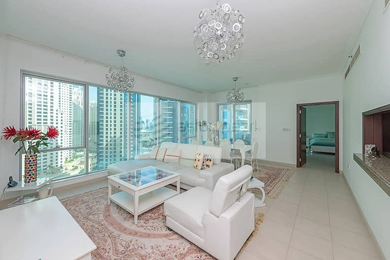 Bright 2BR with Marina and Partial Sea view