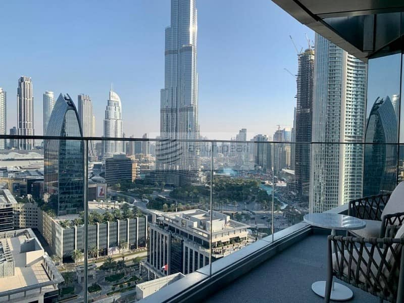 Full Burj Khalifa View | 3BR+Maid | Brand New