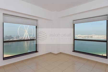 3 Bedroom Flat for Sale in Jumeirah Beach Residence (JBR), Dubai - Dubai Eye View || Huge 3 BR+M || RIMAL 3