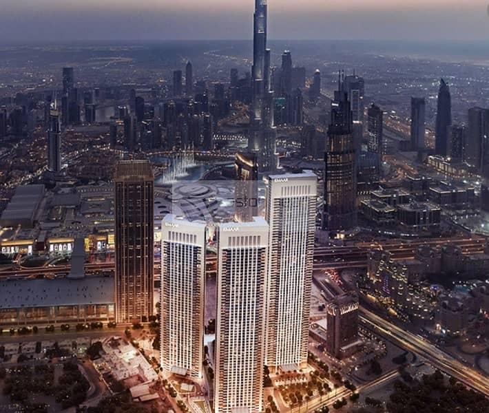 Below O.P Middle floor | 2-BR | Burj Khalifa View