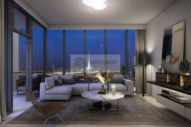 2 Below O.P Middle floor | 2-BR | Burj Khalifa View