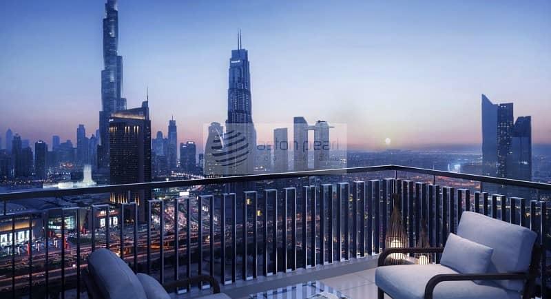 10 Below O.P Middle floor | 2-BR | Burj Khalifa View
