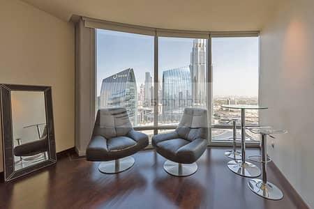Studio for Rent in Downtown Dubai, Dubai - Burj Khalifa Furnished Studio w/ Free AC