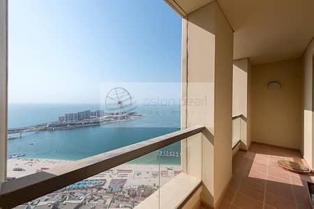 3 Bedroom Flat for Sale in Jumeirah Beach Residence (JBR), Dubai - Secured Full Sea | Half Floor | Masive 3BR