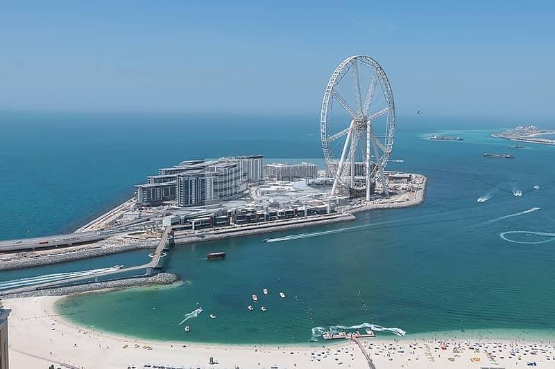 Upgraded 2BR Panoramic JBR Beach Skyline