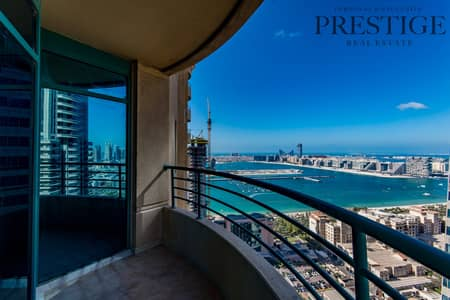 شقة 3 غرف نوم للايجار في دبي مارينا، دبي - 3 Bed + Maids I Unfurnished I High Floor