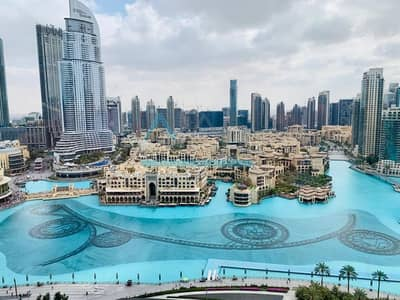 1 Bedroom Flat for Rent in Downtown Dubai, Dubai - FURNISHED 1BR FULL FOUNTAIN IN BURJ KHALIFA