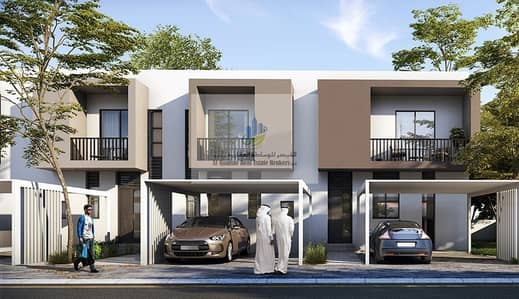 3 Bedroom Villa for Sale in Aljada, Sharjah - Your villa on University Street in installments of 1%