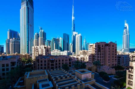 3 Bedroom Flat for Rent in Old Town, Dubai - High Floor|3 BR+Maid| Burj Khalifa Views|Vacant