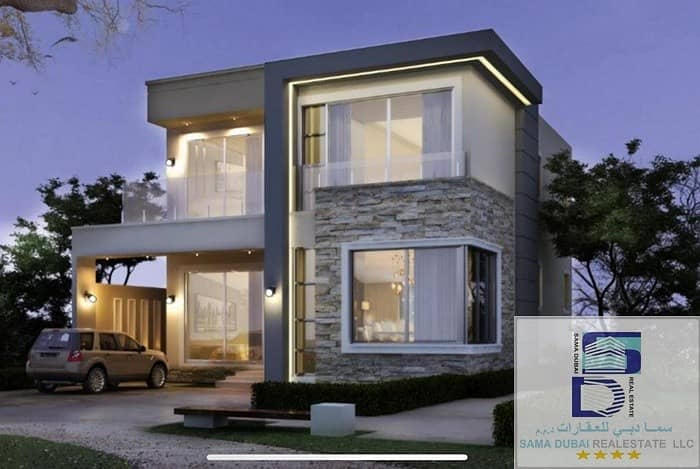 Villa for sale in Ajman, sweet area Personal building, super deluxe, very distinctive design The villa in the emirate of Ajman Freehold