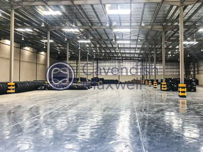 Warehouse for Rent in Dubai Industrial Park, Dubai - New warehouse| 9m Eaves Height and Ready Office