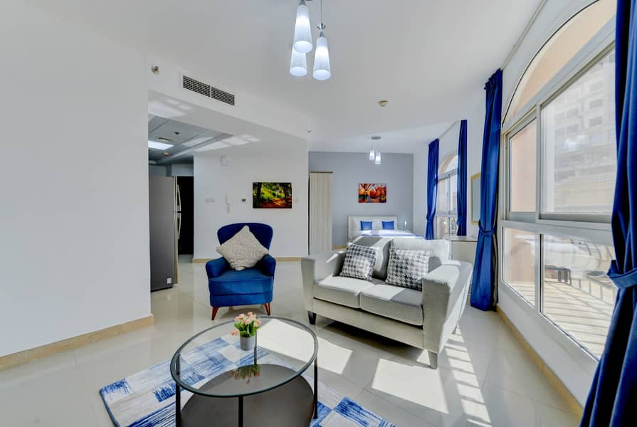 ATTRACTIVE DISCOUNTED OFFER- Stunning Fully Furnished Studio in JVC With free WI-FI