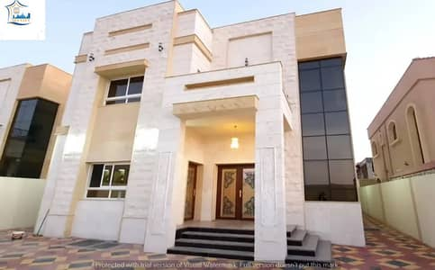 5 Bedroom Villa for Sale in Al Mowaihat, Ajman - For sale new two-storey villa directly opposite the mosque in the Muwaihat area, a minute away for all services. Educational