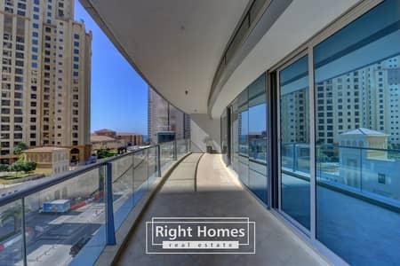 فلیٹ 2 غرفة نوم للايجار في دبي مارينا، دبي - Spacious 2 Bedroom With Partial Sea View