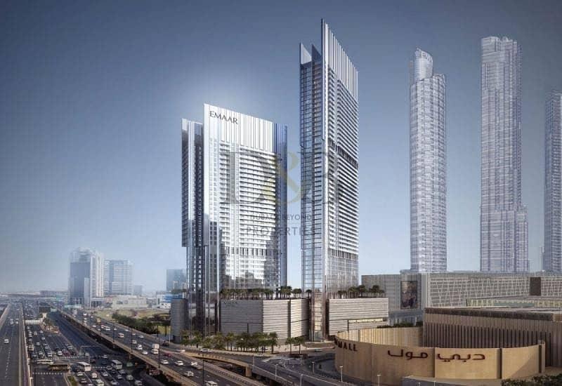 Front Facing | 2 BR+Study | Full Burj Khalifa View