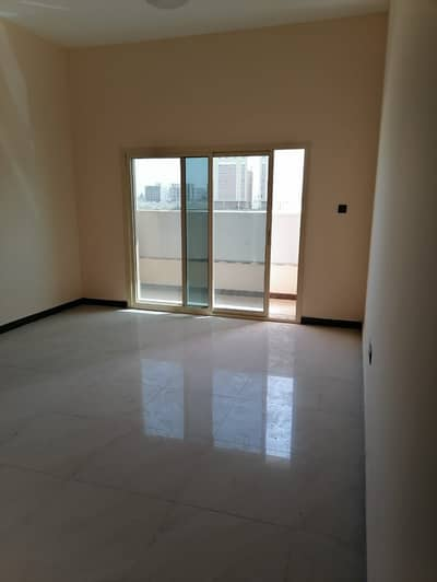1 Bedroom Apartment for Rent in Al Jurf, Ajman - Apartment room and lounge with balcony, the first inhabitant