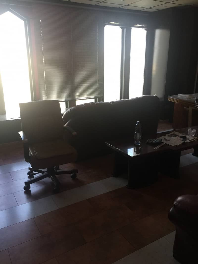 10 1 MONTH FREE!! CHILLER FREE!! FULLY FURNIHSED OFFICE READY TO MOVE WITH BEST VIEW IN AL RIGGA