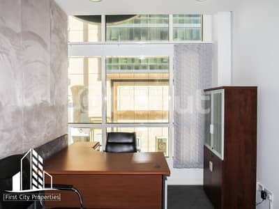 مکتب  للايجار في الحصن، أبوظبي - Big and Small Office Spaces Available in Business Location