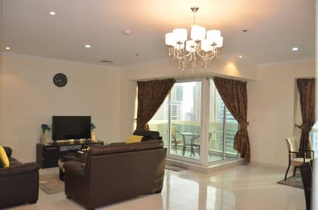 2 Bedroom Apartment for Rent in Jumeirah Lake Towers (JLT), Dubai - Living Area