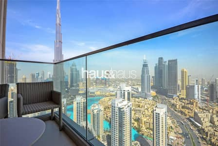 3 Bedroom Flat for Rent in Downtown Dubai, Dubai - High Floor| 3 Beds +Maids| Burj and Fountain view