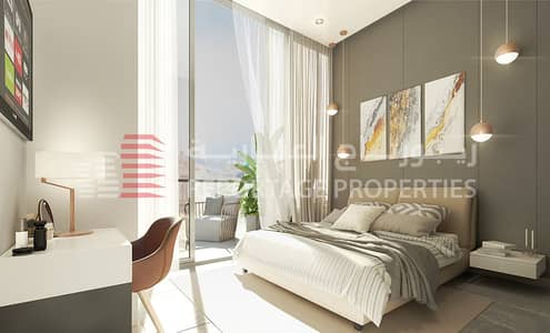 3 Bedroom Apartment for Sale in Masdar City, Abu Dhabi - CONTEMPORARY DESIGN APARTMENT AT THE GATE OF MASDAR CITY WITH A FABULOUS VIEW OF THE POOL