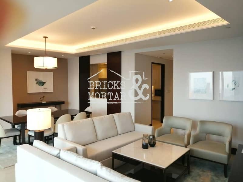 2 A/C Free | Fully Furnished | Stunning Burj View