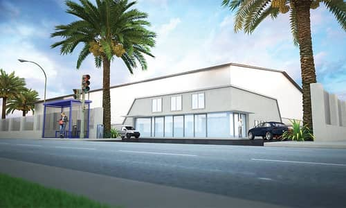 Industrial Land for Rent in Al Quoz, Dubai - 280000 sq ft openyard with air conditioned 55000 sq ft office for rent in Al Quoz 2