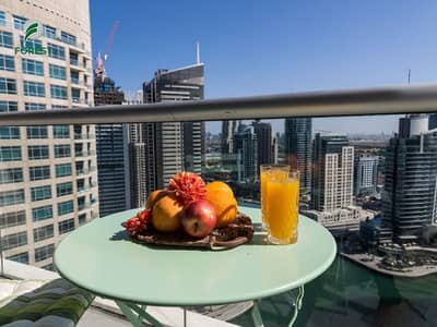 2 Bedroom Flat for Rent in Dubai Marina, Dubai - Fully Furnished 2 BR with Full Marina View