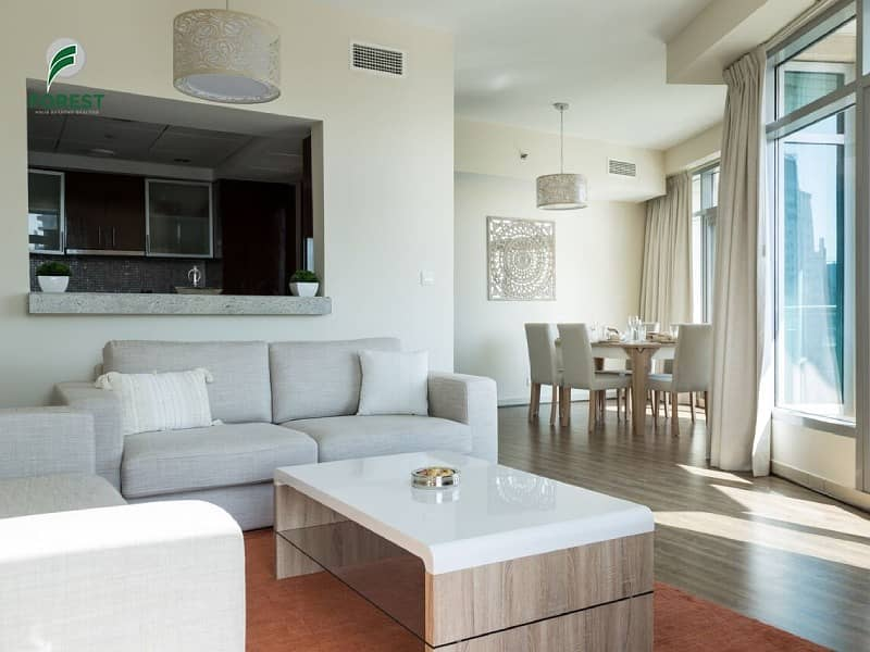 2 Fully Furnished 2 BR with Full Marina View