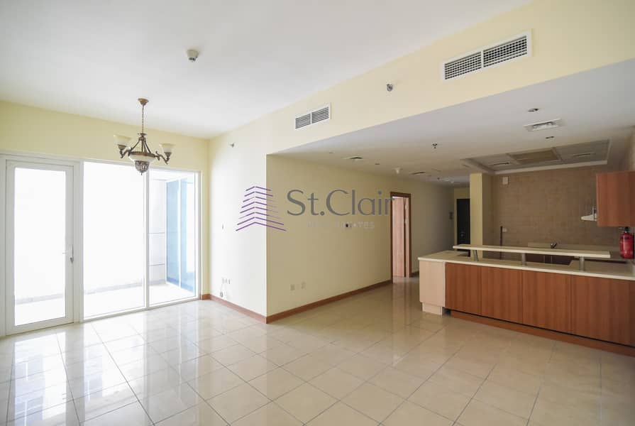 Rented Big Size 1BR Middle Floor / Balcony
