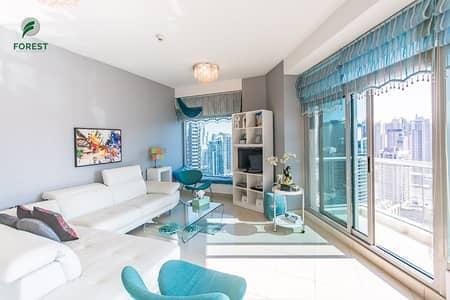 فلیٹ 2 غرفة نوم للايجار في دبي مارينا، دبي - Beautiful Furnished 2 BR with Full Marina View