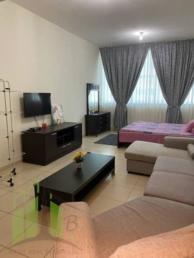 Studio for Rent in Al Sawan, Ajman - Furnished Studio Apartment For Rent in Very Clean Condition