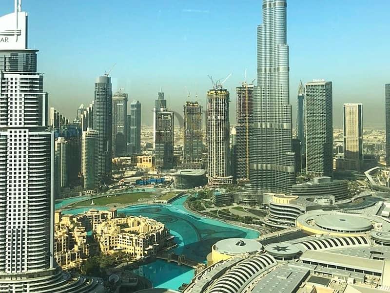 2 Front Facing | 2 BR plus Study | Full Burj Khalifa View